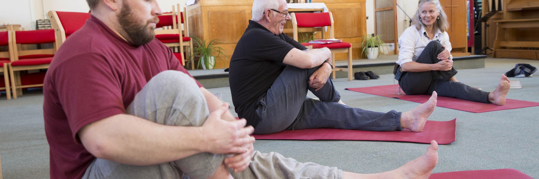 The Prison Phoenix Trust yoga class inside HMP Winchester.